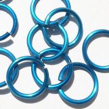 LIGHT BLUE Anodized Aluminum JUMP RINGS 250 7/32 16g SAW CUT American Chain mail