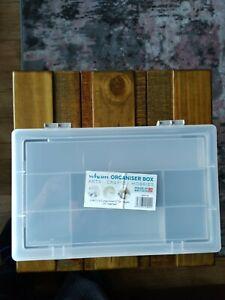 Wham organiser box arts,craft,hobbies 8 compartment 2 tier hinged lid organiser.