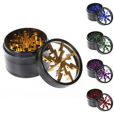 Tobacco Herb Spice Grinder 4 Piece Herbal Alloy Smoke Metal Chromium Crusher NEW