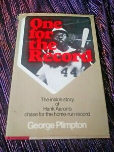 Vintage 1974 Hank Aaron One for the Record Hardcover Book by George Plimpton M5