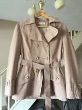 TAYBERRY LADIES BEIGE TRENCHCOAT MAC SIZE SMALL