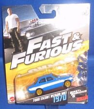 FAST & FURIOUS 6 MOVIE FORD ESCORT RS1600 MK1 1970 #6/32 MATTEL COLLECTIBLE, NEW