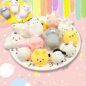 Soft Press Doll Japan Mochi cat rabbit Kawaii Stretch Squeeze Toy Squishy C