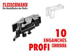 10 x Fleischmann 6570 H0 cabeza de enganche corto profi NEM con predesenganche.