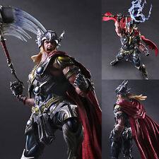 Play Arts Kai Variant Thor Marvel Universe Square Enix [W/ Damaged Box]