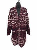 J. Jill Sweater Long Cardigan Women's Size M Cotton Blend Pockets V-Neck Duster