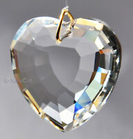 35mm Heart Crystal Clear Faceted Pendant Prism SunCatcher 1-1/3 inch