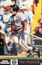 ALLEN TRAMMELL DETROIT TIGERS 1989 SPORTS ILLUSTRATED POSTER