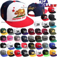 79a56124ec6 CALI Baseball Hat California Republic Cap Bear Embroidered Snapback Flat Men