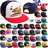 California Republic CALI Bear Baseball Hat Embroidered Snapback Adjustable Cap