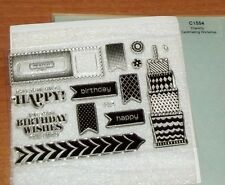 CTMH C1554 CHANTILLY WORKSHOP STAMP ~ May Your Birthday Wishes Come True, CAKE