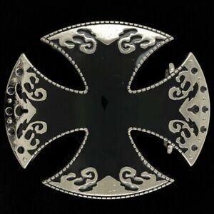 Maltese Iron Cross Goth Gothic Medieval Biker Knights Templar 00s Belt Buckle