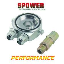 Universal Silver AN8 Oil Cooler Filter Sandwich Adapter Plate M20X1.5 3/4-16UNF