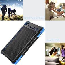 Chargeur Batterie Urgence Solaire Étanche Alimentation 12000mAh Dual USB / BU
