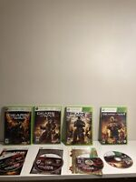 Gears of War 1 2 3 and Judgement Game Bundle Xbox 360 Complete and Tested