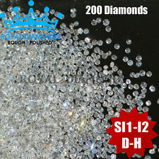 100% Natural Loose Round Single Cut 200 Diamonds SI-I D-H(White) Brilliant Good