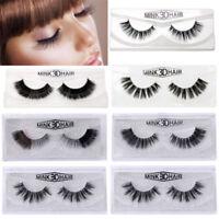 Black 3D Mink Soft Long Natural Makeup Eye Lashes Thick False Eyelash 32 Style