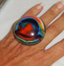 Sobral Kandinsky Moscou Colorful Runway Statement Ring Size 7.25 Brazil Import