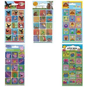 Rewards Stickers Bing, Hey Duggee, Gruffalo, Little Miss & Peppa Pig NEW