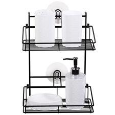 Bathroom Tub Shower Caddy Easy Adhesive Wall Mounted Shelf Storage Organizer