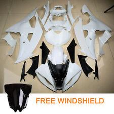 Unpainted White Fairing Body Work Windshield Fit Yamaha YZF R6 YZFR6 2008-2016
