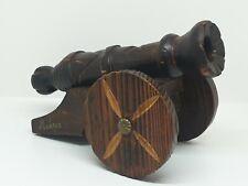 Antico riproduzione CANNONE in legno artigianale fatto a mano MONACO vintage