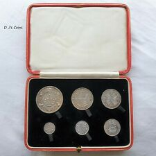 More details for 1927 king george v 6 coin cased proof set, crown to threepence