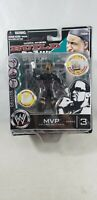 MVP Series 3 Action Figure WWE Build N Brawl  w/ Cage Wall Piece Worn Box*