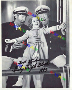 Shirley Temple Hollywood's Sweetheart 8x10 Autographed Signed Photo Reprint