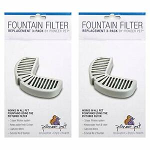 Pioneer Pet Replacement Filters for Ceramic and Stainless Steel Fountains 6 F...