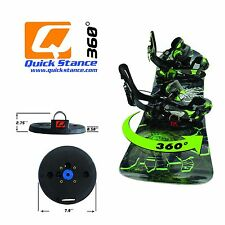 Quick Stance 360 Tool-less Snowboard Binding Rotating System