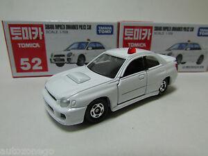 TAKARA TOMICA #52 SUBARU IMPREZA UNMARKED POLICE CAR RARE   EMS
