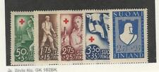 Finland, Postage Stamp, #B44-B48 Mint Lh, 1941