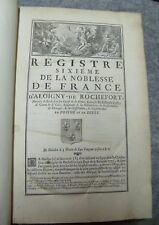 b54 Registre sixième de la noblesse de France Tome 3 registre second D'Hozier