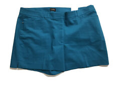 """Whit House Black Market The 5"""" Shorts Plus Size 22W Above Knee Teal Stretch NWT"""
