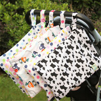 Baby Protable Nappy Washable Nappy Wet Dry Cloth Zipper Waterproof Diaper Bag BB