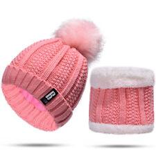 2PCS Womens Mens Winter Knitted Crochet Beanie Skull Cap Hat + Scarf Neck Warmer