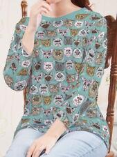 Cats Women 3/4 Sleeve Round Neck Tee T-shirt b102 acq03436