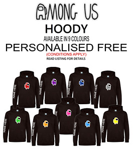 AMONG US inspired MERCH Gaming Hoody PERSONALISED FREE Introductory Offer