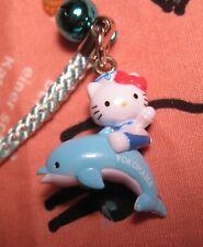 New listing Hello Kitty Yokohama Ltd Dolphin Gotouchi Cell Phone Bag Charm New from Japan