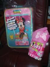 "American Tourister Kids 18"" Upright, Disney Minnie Mouse Suitcase & Hooded towel"