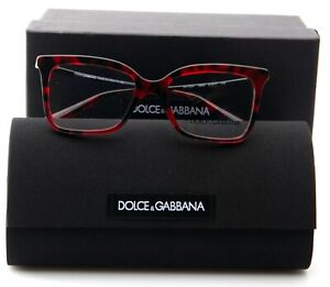 NEW D&G Dolce & Gabbana DG3261 2889 CUBE BORDEAUX EYEGLASSES 51-17-145mm Italy