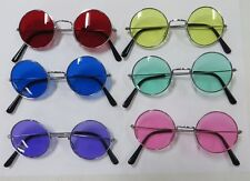 60s HIPPY GLASSES - Red, Blue, Purple, Yellow, Green & Pink Hippie John Lennon