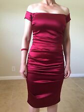 NICOLE MILLER RED DRESS SIZE 2
