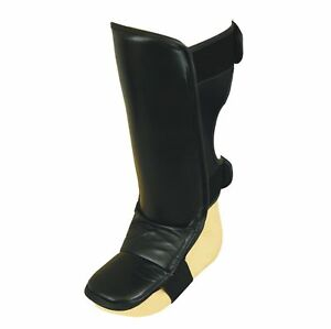 New, Shin Instep Protectors In Leather, Fast Shipping.