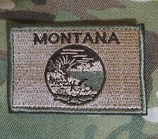 MONTANA STATE FLAG TACTICAL US ARMY MORALE MULTICAM VELCRO® BRAND BADGE PATCH