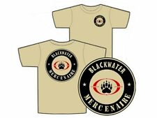 "T SHIRT TAN "" BLACKWATER "" S - M - L - XL - XXL mercenaire IRAK AFGHA tshirt"