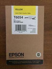véritable Epson Stylus Pro T6054 Cartouche d'encre Jaune (C13T605400)