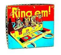VINTAGE RING 'EM GAME HOOPLA QUOITS BOXED WITH INSTRUCTIONS MADE IN ENGLAND