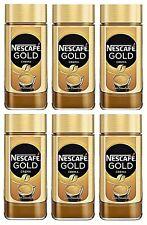 6 x 200g Nescafe Gold Crema löslicher Kaffee instant Neu & Ovp MHD : 04.2021
